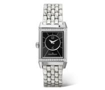 Reverso Classic Duetto Small Uhr aus Edelstahl