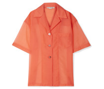 Relovo Oversized-hemd aus Organza