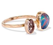 Ring aus 14 Karat  mit Opal und Turmalin