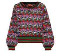 Pullover aus Strick in Häkeloptik