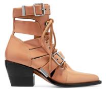 Rylee Ankle Boots aus Leder mit Cut-outs