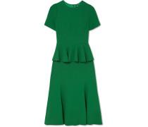 Kleid aus Crêpe mit Schößchen