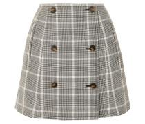Minirock aus Wolle mit Glencheck-muster