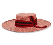 Hut aus Toquilla-stroh mit Ripsbandbesatz