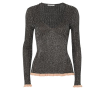 Pullover aus Geripptem Lurex® aus einer Seidenmischung