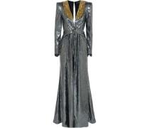Robe aus Crêpe De Chine mit Pailletten