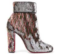 Moulamax 100 Paillettenverzierte Ankle Boots aus Leder