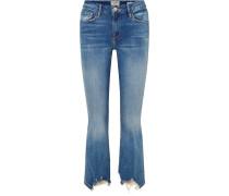 Le Crop Mini Boot Hoch Sitzende Jeans in Distressed-optik