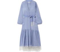 + Net Sustain Zinab Wickelkleid aus Gestreiftem Voile aus einer Baumwollmischung
