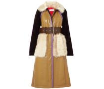 Mantel aus Leder und Shearling