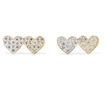 Double Hearts Ohrringe aus 14 Karat