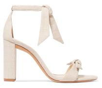 Clarita Sandalen aus Leinen mit Schleifen