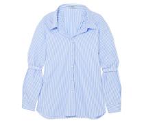 Gestreiftes Oversized-hemd aus Baumwollpopeline