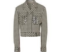 Jacke aus einer Baumwoll-wollmischung