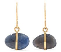 Ohrringe aus 14 karat  mit Saphiren