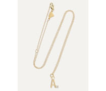 Letter 14-karat  Diamond Necklace