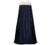 Verzierte Robe aus Lamé aus einer Seidenmischung und Tüll