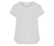 Gestreiftes T-shirt aus Jersey aus einer Modalmischung