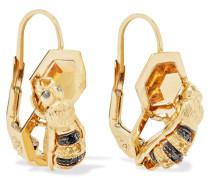Ohrringe aus 9 Karat  mit Mehreren Steinen