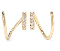 Lila Twirl Ohrringe aus 18 Karat  mit Diamanten