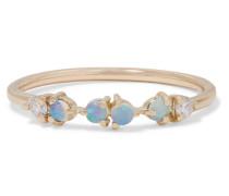 Ring aus  mit Opalen und Diamanten
