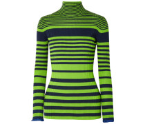 Gestreifter Pullover aus einer Gerippten Wollmischung