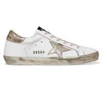 Superstar Sneakers aus Leder in Distressed-optik