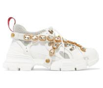 Flashtrek Sneakers aus Leder, Veloursleder und Mesh