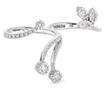 Zwei-finger-ring aus 18 Karat  mit Diamanten
