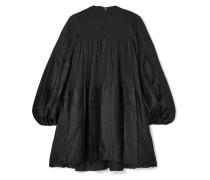 Gerafftes Oversized-minikleid aus Krepon