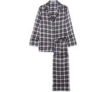 Avery Karierter Pyjama aus Vorgewaschener Seide