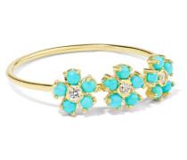 Ring aus 18 Karat  mit Türkis und Diamanten