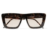 Sonnenbrille mit D-rahmen aus Azetat in optik