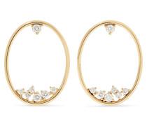 Creolen aus 14 Karat  mit Diamanten