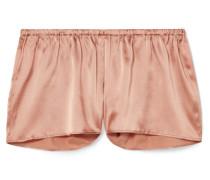 Pyjama-shorts aus Satin aus einer Seidenmischung