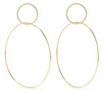 Double Slim Large Ohrringe aus 18 Karat