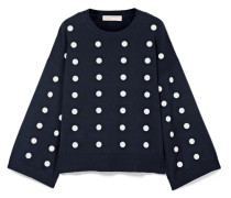 Oversized-pullover aus Verzierter Baumwolle