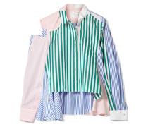 Patchwork-hemd aus Gestreifter Baumwollpopeline