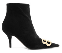 Knife Ankle Boots aus Samt