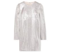 Ami Minikleid aus Metallic-webstoff