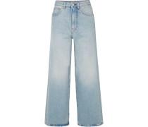 Flair Hoch Sitzende Jeans mit Weitem Bein