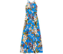 Floral Bedrucktes Maxikleid aus Seiden-jersey
