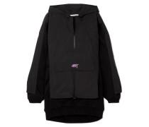 Oversized-hoodie aus Shell und Baumwoll-jersey