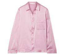 Reina Pyjama-hemd aus Satin aus Stretch-seide