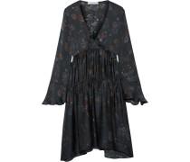 Ciclone Kleid aus Bedrucktem Seidensatin