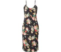 Kleid aus Seidensatin mit Floralem Print