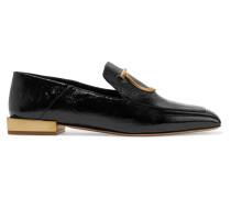 Lana Verzierte Loafers aus Strukturiertem Lackleder