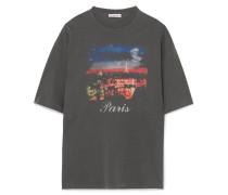 Bedrucktes Oversized-t-shirt aus Baumwoll-jersey