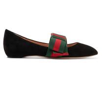 Flache Schuhe aus Veloursleder