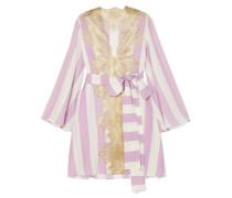 Wallah, Let's Stripes Pyjama-oberteil aus Seide